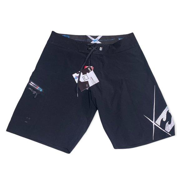 Billabong Swim PX1 Platinum X Surfing Beach Board Short Black Men Size 36 NWT
